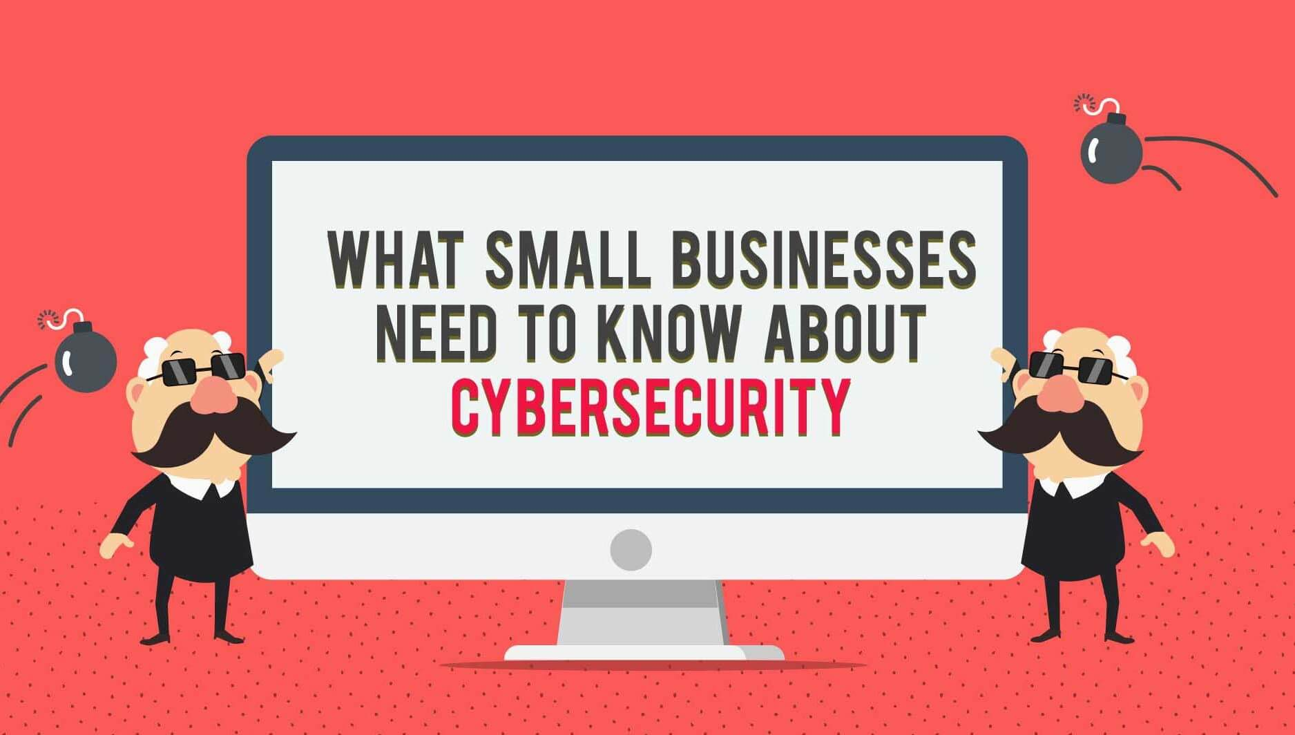 Header image for infographic about cybersecurity for small businesses